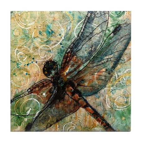Dragonfly Dance Tile Coaster