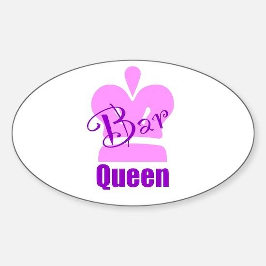 Bar Queen Sticker (Oval)