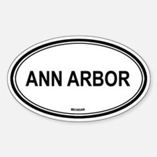 Ann Arbor (Michigan) Oval Decal