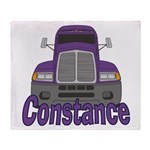 Trucker Constance Throw Blanket
