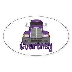 Trucker Courtney Decal