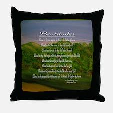 Beatitudes Green Throw Pillow