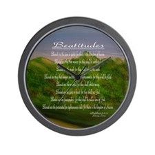 Beatitudes Green Wall Clock