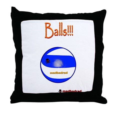 Balls Volleyball 6000.png Throw Pillow