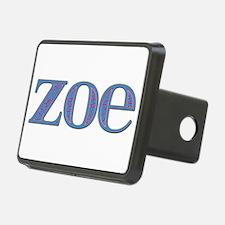 Zoe Blue Glass Hitch Cover