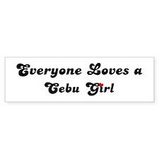 Loves Cebu Girl Bumper Bumper Sticker
