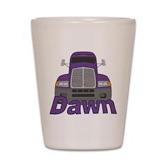 Trucker Dawn Shot Glass