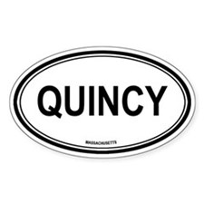 Quincy (Massachusetts) Oval Decal