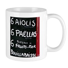 French Cafe Menu Mug