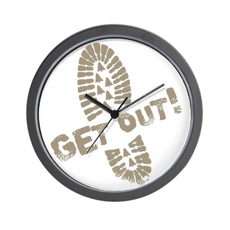 Get Out! Wall Clock