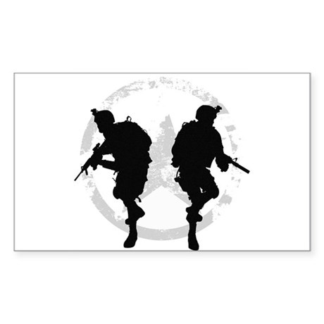 soldiers 22 iraq Sticker (Rectangle)