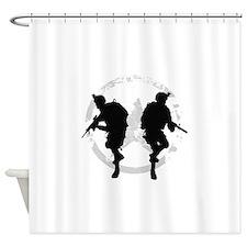 soldiers 22 iraq Shower Curtain