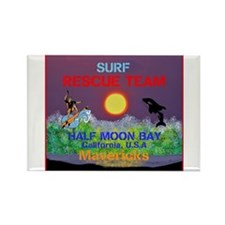 Half Moon Bay Mavericks Rectangle Magnet