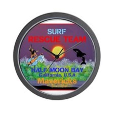 Half Moon Bay Mavericks Wall Clock