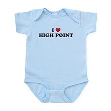 I Love High Point North Carolina Onesie