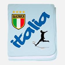 Italian World Cup Soccer baby blanket