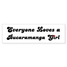 Loves Bucaramanga Girl Bumper Bumper Sticker
