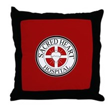 Sacred Heart Hospital Throw Pillow