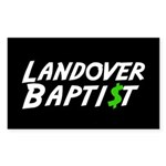 Landover $ Rectangle Sticker