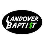 Landover $ Oval Sticker
