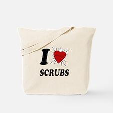I Sacred Heart Scrubs Tote Bag