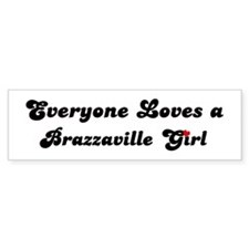Loves Brazzaville Girl Bumper Bumper Sticker