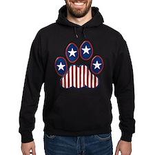 Patriotic Paw Print Hoodie