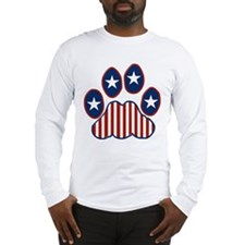 Patriotic Paw Print Long Sleeve T-Shirt