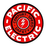 Pacific Electric Round Car Magnet