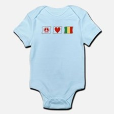 Peace, Love and Mali Infant Bodysuit