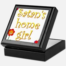 Satans Home Girl Keepsake Box