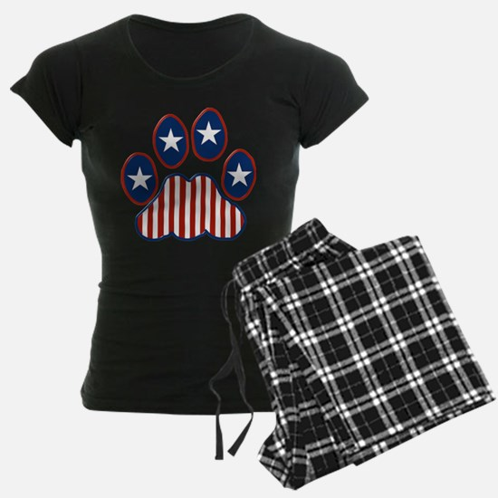 Patriotic Paw Print Pajamas