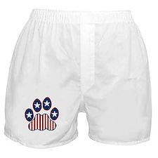 Patriotic Paw Print Boxer Shorts