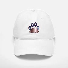 Patriotic Paw Print Baseball Baseball Cap
