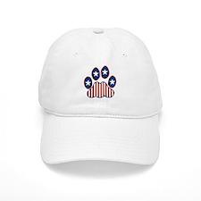 Patriotic Paw Print Baseball Cap
