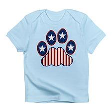 Patriotic Paw Print Infant T-Shirt