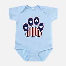 Patriotic Paw Print Infant Bodysuit