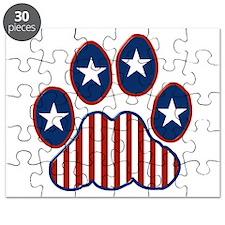 Patriotic Paw Print Puzzle