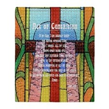Act of Contrition Prayer Glass Throw Blanket