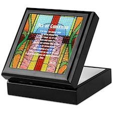 Act of Contrition Prayer Glass Keepsake Box