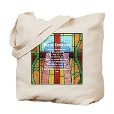 Act of Contrition Prayer Glass Tote Bag