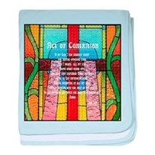 Act of Contrition Prayer Glass baby blanket