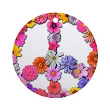 FloralPeace.png Ornament (Round)