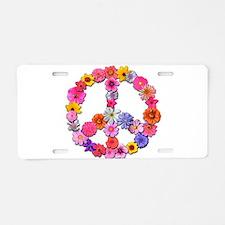 FloralPeace.png Aluminum License Plate