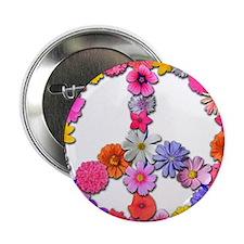 """FloralPeace.png 2.25"""" Button"""