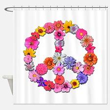FloralPeace.png Shower Curtain