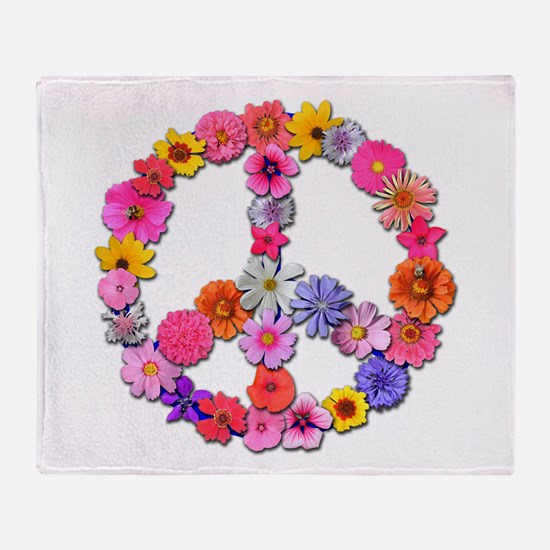 FloralPeace.png Throw Blanket