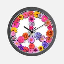 FloralPeace.png Wall Clock