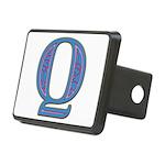 Q Blue Glass Rectangular Hitch Cover