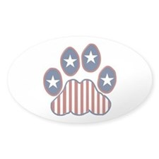 Patriotic Paw Print Decal